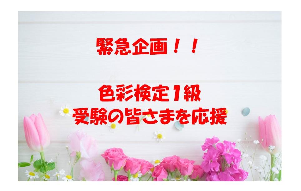 緊急企画! 色彩検定1級受験者応援企画 1(2はあるのか??)